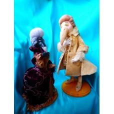 Author dolls Frederic and Lucretia